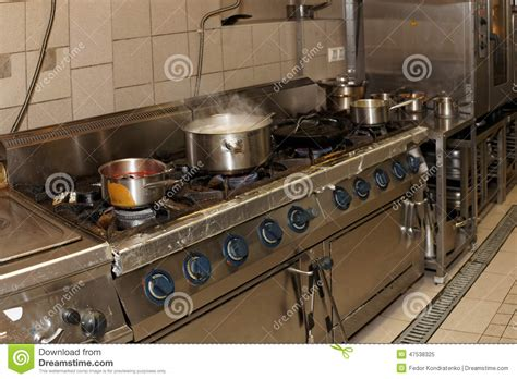 cuisine sale vraie cuisine de restaurant photo stock image 47538325