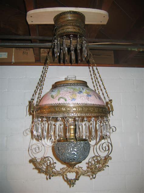 antique b h library hanging kerosene l lighting w