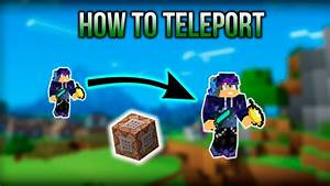 How To Teleport With The Command Block In Minecraft No