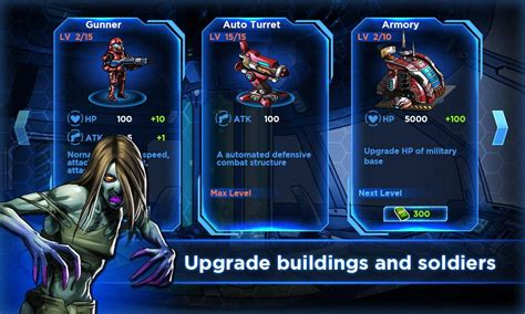 robot vs game zombies robots android app screen upgrade