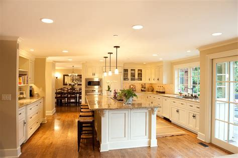 island recessed lighting kitchen traditional with drum