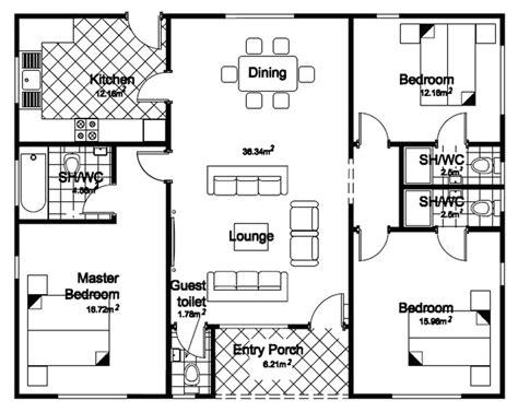 bungalow house plans 3 bedroom bungalow house floor planshouse plans exles