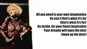 Madonna Vogue Lyrics On Screen YouTube