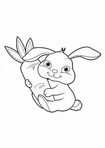 Lapin Facile A Dessiner : coloriage lapin 20 tiago pinterest coloriage lapin ~ Carolinahurricanesstore.com Idées de Décoration