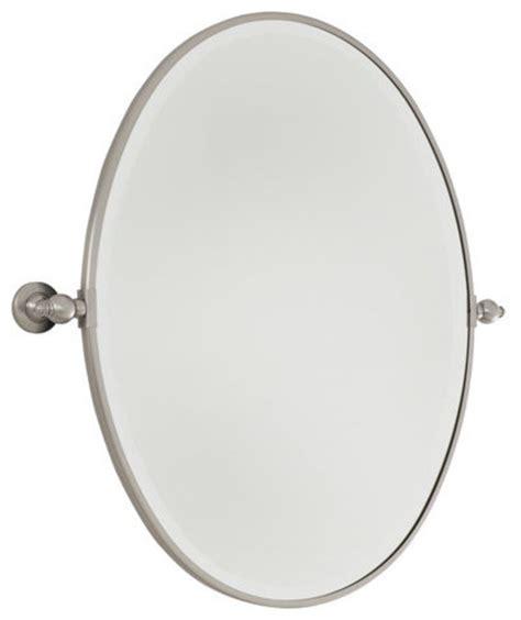 oval pivoting bathroom mirror minka lavery 1431 77 standard oval pivoting bathroom