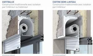 coffralux et coffre demi linteau profalux profalux pro With porte de garage enroulable jumelé avec bloc porte métallique