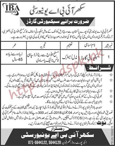 sukkur iba 2018 security guard
