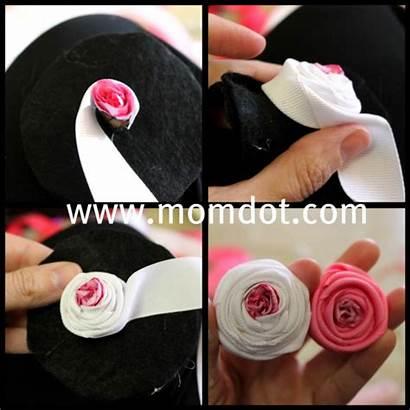 Tutorial Ribbon Flowers Rosette Felt Sew Momdot
