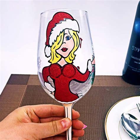 bicchieri di natale dipinto natale bicchieri di produttore mano bicchieri