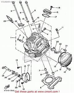 Yamaha Ytm200k Tri-moto 1983 Cylinder Head