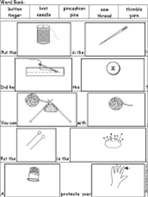 sewing theme page at enchantedlearning