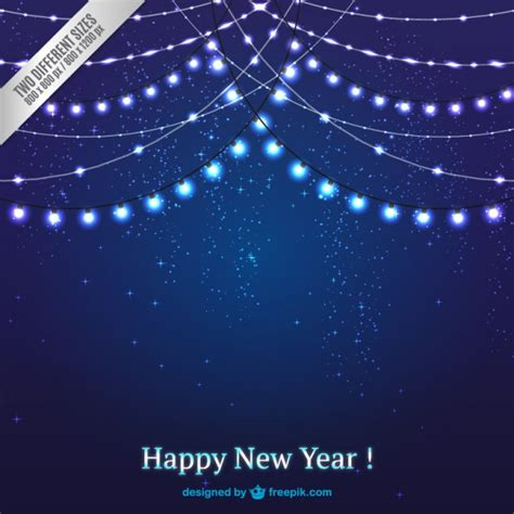 dark blue christmas lights background vector free download