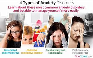 4 Types Of Anxiety Disorders