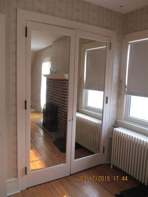 interior closet door with built in mirror doors 4