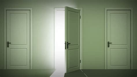 Stock Video Of Doors Opening And Closing Looped Animation