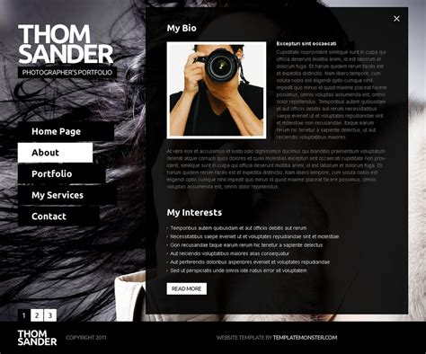 full js website template photography