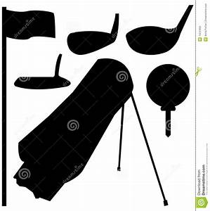 Set of Golf Silhouettes stock vector. Illustration of ...