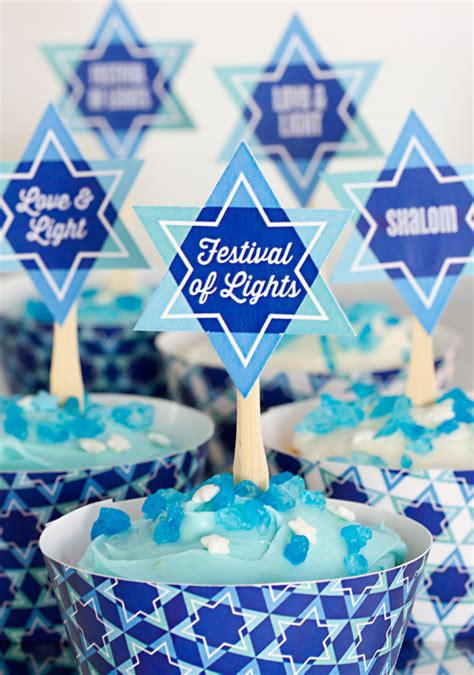 celebrate hanukkah   printables party inspiration