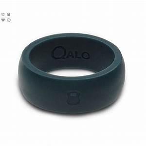 qalo mens slate grey classic silicone wedding ring with With qalo men s silicone wedding ring