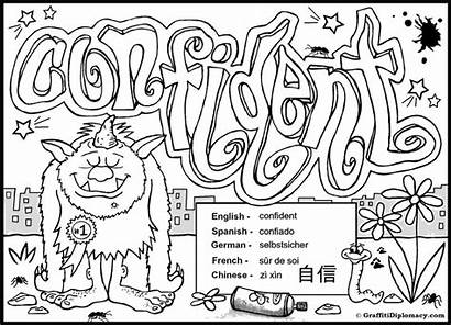 Coloring Pages Graffiti Printable Teenagers Cool Detailed