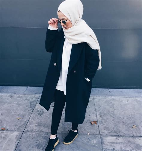 muslim hipsters fashion  black mipster style hijab