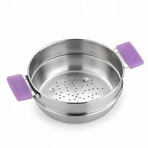 Cuit Vapeur Inox : panier cuit vapeur en inox diam tre 24cm mod le versailles ~ Melissatoandfro.com Idées de Décoration