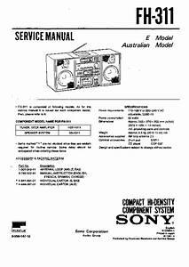 Sony Fh-311 Service Manual