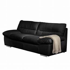 Möbel 24 Shop : sofa doug 2 sitzer echtleder schwarz cotta ~ Indierocktalk.com Haus und Dekorationen