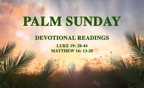 Holy Week Devotionals Palm Sunday Mary Mother Of The Church