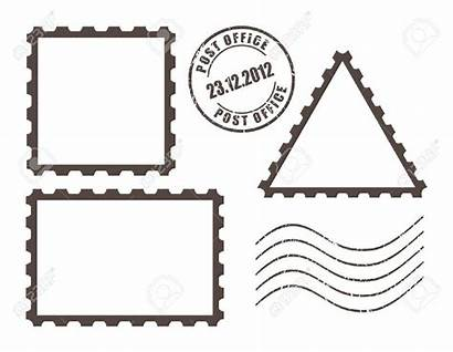 Stamp Clipart Stamps Outline Place Postcard Empty