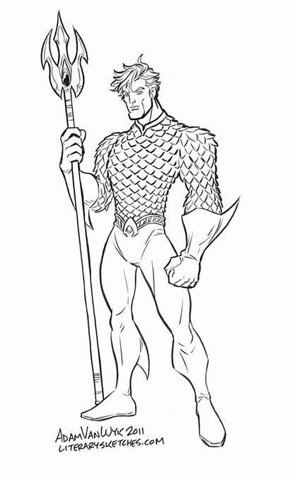 Aquaman Jla Sketching Sketches Con Before