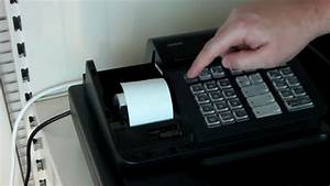 How To Change The Till Rolls And Ink Roller On The Casio