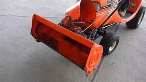 Kubota Model T1760 Lawn Mower With Snow Thrower Model