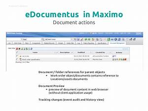 edocumentus document management system for ibm maximo With document management system ibm