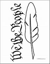 Quill Pen Coloring Clip Clipart Abcteach United States Ink Clipartmag sketch template