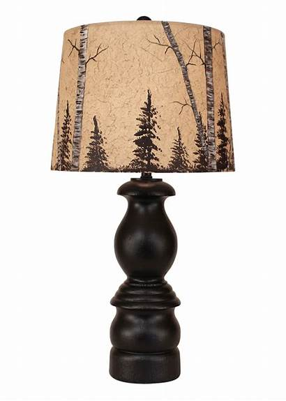 Lamp Shade Tree Antique Birch Lamps Rustic