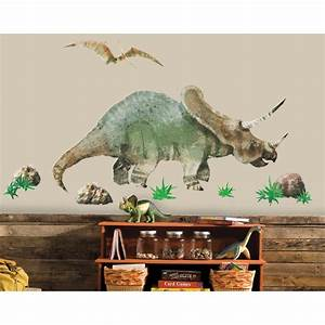 giant triceratops dinosaur wall decals dinosaurs room With nice ideas dinosaur decals for walls