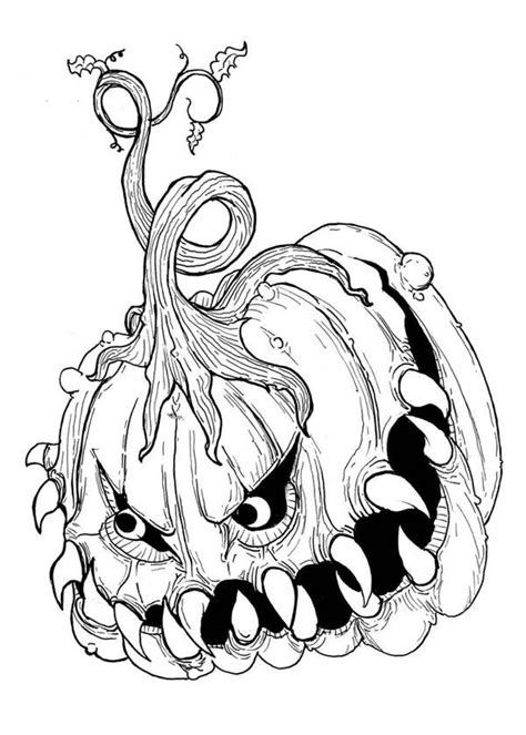 hard halloween coloring pages  adults coloring home