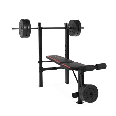 Barbell And Bench Set by Cap Barbell Strength Standard Bench 100 Lb Pound Weight
