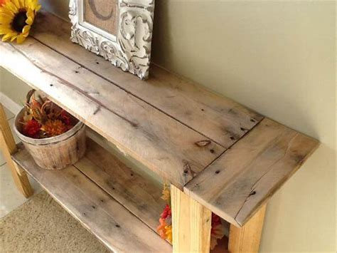 diy pallet console hall table pallet furniture diy