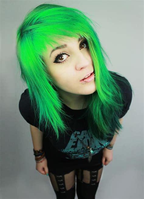 Best 25 Neon Green Hair Ideas On Pinterest Green Hair