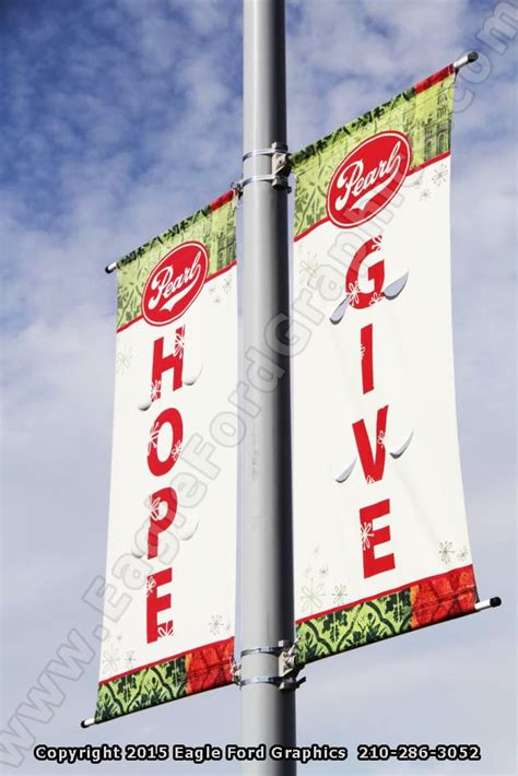 light pole banners custom parking lot light pole banners can give your