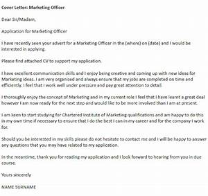 marketing officer cover letter example icoverorguk With best cover letter for marketing jobs