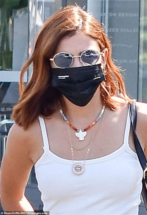 Lucy Hale steps out with new red hair color in Los Angeles ...