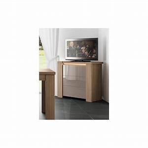 Meuble Tv Haut : meuble tv haut chene ~ Teatrodelosmanantiales.com Idées de Décoration