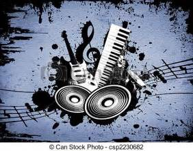 Clip Art of Grunge Music - cool wacky grunge Music