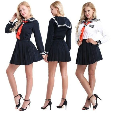 japanese anime school girl sailor uniform outfit cosplay