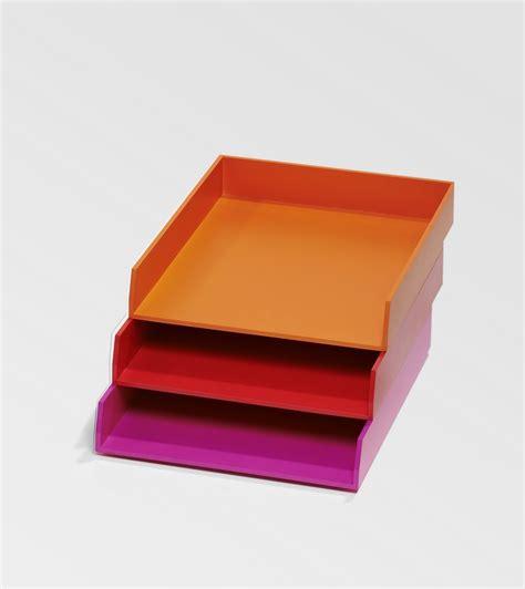 bureau de poste belgique bannettes de bureau orange et pour le