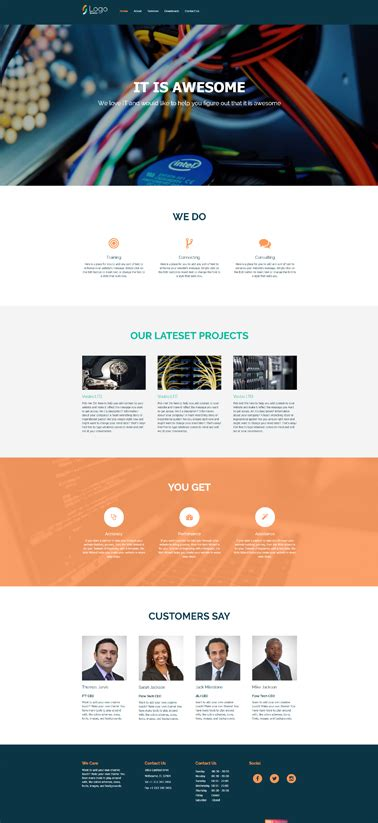 Bootstrap Website Templates Bootstrap Complete Website Templates Popteenus