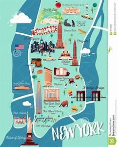 Plan De Manhattan : carte d 39 illustration de new york manhattan illustration de ~ Melissatoandfro.com Idées de Décoration